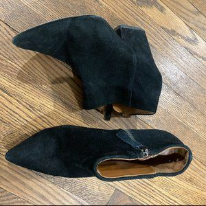 ZARA Black Suede Booties l Size 8 - 38